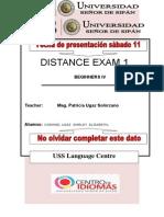 First Distance Exam Beg 4
