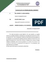 Informe de Tecnologia Del Concreto