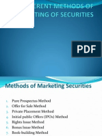 Different Methods of Marketing of Securities