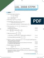 2008 Stpm Maths t Qa