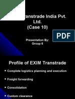 EXIM Trans Trade India Pvt