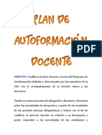 Plan de Autoformación Docente