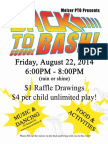2014-2015 Back to School Bash Email