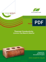 Technical Note 1 - Thermal Conductivity of Clay Masonry