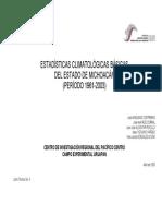 Estadisticas Climatologicas Basicas Del Estado de Michoacan (Periodo 1961-2003)