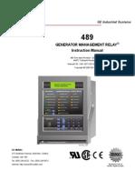 Generator Management Relay -489