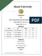 First Security Islami Bank Ltd/ Ratio Analysis