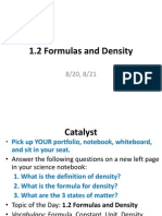 1 2 formulas and density