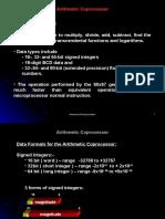 Arithmetic Coprocessor Coprocessor Basic: