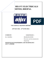 bhel project report