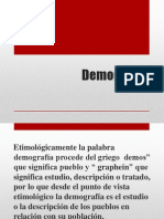 Clase 1 Demografía