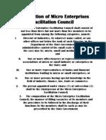 Composition of Micro Enterprises Facilitation Council