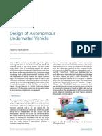 Design of Autonomous Underwater Vehicle