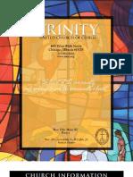 Trinity United Church of Christ Bulletin Jan 6 2008