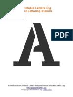 PDF Lettering Stencils