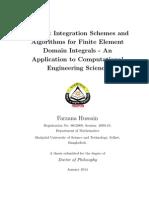Ph.D. Thesis of Farzana Hussain