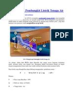 Prinsip Kerja Pembangkit Listrik Tenaga Air