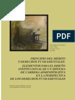 Principio Del Mérito y Derechos Fundamentales