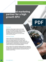 CS-Dedicated Marketing Partner for a High Growth BPU