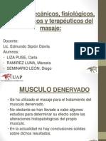 Efectos Mecánicos, Fisiológicos, Psicológicos y Terapéuticos