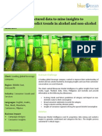 Leveraging unstructured data to mine insights to understand and predict trends in alcohol and non-alcohol market