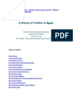 The History of Textiles in Egypt