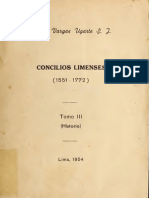 Rubén Vargas Ugarte - Concilios Limenses (tomo III)