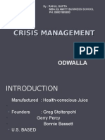 Crisis Management - Odwalla