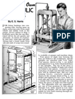 Wood Working - Plans for Hydraulic Press