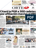 Periódico Norte edición del día 21 de agosto de 2014