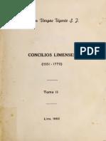 Rubén Vargas Ugarte - Concilios Limenses (tomo II)