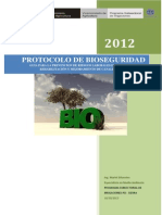 Protocol o Bio Seguridad