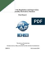 Report on Commodity Derivative Principle