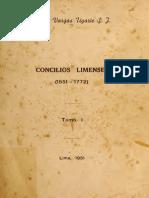 Rubén Vargas Ugarte - Concilios Limenses (tomo I)