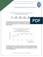 Análisis Del Intercambio Comercial Del Perú en Los Últimos Años
