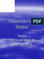 S54 Workplace Professionalism