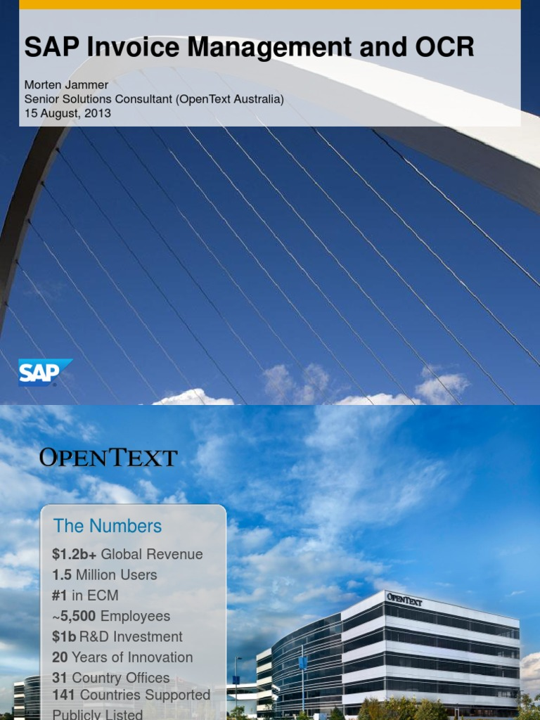 OpenText SAP And Accounts Payable Automation Configuration Sap - Open text invoice management
