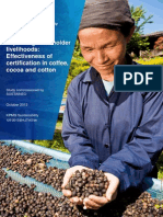 Improving Smallholder Livelihoods - Effectiveness of Certification in Coffee,Cocoa and Cotton_study Commissioned by SUSTAINEO