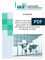 Economía e Interés Personal Sirve Al Interés Social