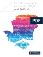 Hampshire and Isle of Wight Police and Crime Commissioner Annual Report 2013/2014