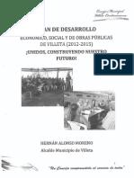 Plan de Desarrollo 2012 2015 Villeta