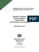 STPM 2007-2008 Experiment List