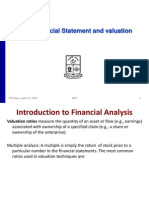 Financial Statment Analysis and Valuation