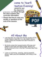 parents evening powerpoint presentation