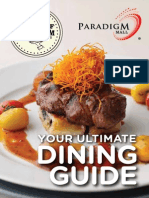 Taste of Paradigm 2014 - F&B Booklet