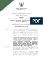 Peraturan Menteri Pekerjaan Umum Nomor 03/PRT/M/2014 tentang Pedoman Perencanaan, Penyediaan, dan Pemanfaatan Prasarana dan Sarana Jaringan Pejalan Kaki di Kawasan Perkotaan