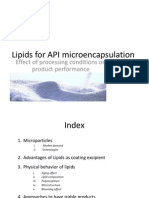 Lipids for Fluid Bed Microencapsulation