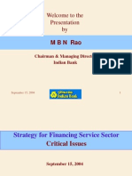 FICCI Lending to Service Sector Critical Issues Strategies