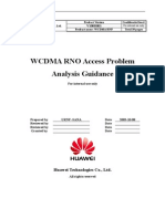 WCDMA RNO Access Problem Analysis Guidance