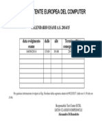 CALENDARIO ESAMI 04092014